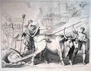 Romolo fonda la città di Roma