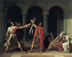 jacques-louis-david-il-giuramento-degli-orazi-1785-museo-del-louvre-parigi