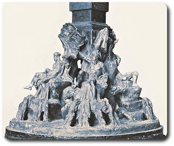 modello in argento della fontana dei fiumi