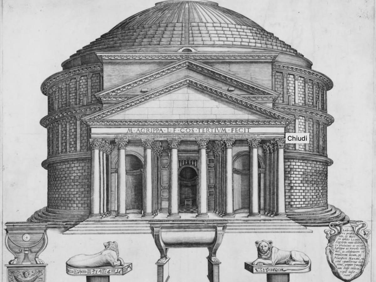 incisione del Pantheon